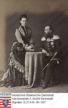 Grand Duchess Alice and Grand Duke Ludwig IV of Hesse, parents of Empress Alexandra: circa 1874
