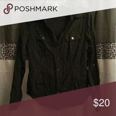 Button down shirt Black button down shirt.  Size medium. Tops Button Down Shirts