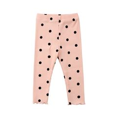 Material: CottonGender: Baby GirlsStyle: CasualFabric Type: BroadclothPattern Type: DotClosure Type: Elastic WaistWaist Type: MidFit: Fits true to size, take your normal sizeDepartment Name: BabyItem Type: Full Length Polka Dot Pants, Polka Dots, Petite Leggings, Hot Dads, Baby Girl Leggings, Pink And Green, Hooded Jacket, Kids Outfits, Rompers