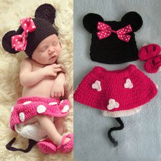 Infant Baby Crochet Baby Photo Prop Minnie by michaelfashionstore, $18.99