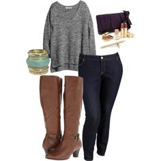 A fashion look from December 2013 featuring H&M sweaters, Old Navy pants and Old Navy jeans. Browse and shop related looks. Cute Winter Outfits, Fall Outfits, Casual Outfits, Cute Outfits, Fashion Outfits, Curvy Girl Fashion, Love Fashion, Plus Size Fashion, Full Figure Fashion