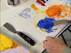 "How to use Liquitex palette and painting knives to create textures with acrylic gels    Liquitex Gel Mediums add body to thinner paint for impasto techniques as well as extending color volume and adding transparency. Gels also add ""open time"" as they tend to dry slower than thinner paint films. These acrylic mediums also modify acrylic paints in a..."