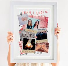 Personalised Best Friends Photo Collage Print by Giddy Kipper, the perfect gift for Explore more unique gifts in our curated marketplace. Birthday Photo Collage, Photo Collage Gift, Birthday Photos, Photo Collages, Best Friend Photos, Friend Pictures, Collage Frames, Canvas Collage, Photo Memories