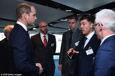 Jack Rutter, the England Cerebral Palsy football team captain, chats to the Prince during ...