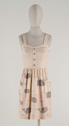 whale print dress, probably too childish.. but cute