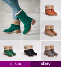9d08f588d7 Womens Ladies Winter Shoes Flock Warm Boots Martin Snow Boots Short Basic  Boot Μπότες Ugg
