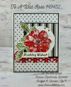 ToaWildRose-IttyBittyBirthdays Birthday Wishes, Birthday Cards, Birthday Ideas, Flower Stamp, Black And White Design, Stampin Up Cards, True Love, Card Making, Paper Crafts
