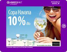 Aprovecha la oportunidad de llevarte la copa Havana, perfecta para tus combinados, con un 10% de descuento.