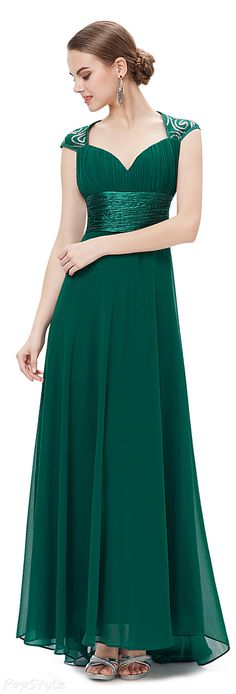 Ever Pretty 09672 V-neck Ruched Long Evening Dress This would make a great mother of the groom dress next summer!