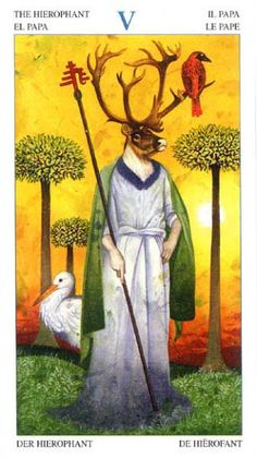 V. The Hierophant - Tarot of the Animal Lords by Angelo Giannini