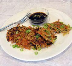 Aunt Peg's Recipe Box: Asian Style Noodle Pancakes