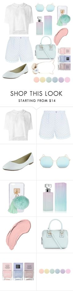 """""""Pastel chic☺️"""" by lets-get-chic ❤ liked on Polyvore featuring Comme des Garçons, Carven, Quay, Ashlyn'd, Calvin Klein, NYX, New Look, Nails Inc. and Deborah Lippmann"""