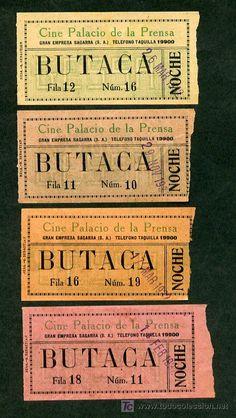 Madrid. Lote 4 Ticket entrada cine *Cine Palacio de la Prensa* Ver dorsos. - Foto 1