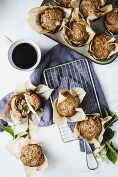 "These muffins are a breakfast staple for our house. Lovingly referred to as ""cookie muffins,"" the sweetness hides the veggies and are far from cookies. In the end both parents and kids win. Muffin Recipes, Brunch Recipes, Baking Recipes, Breakfast Recipes, Dessert Recipes, Pan Nube, Zucchini Bread Muffins, Breakfast Muffins, The Best"