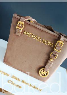 Michael Kors Handbag Cake #cakeart #edibleart #handbagcake #birthday