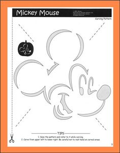 DIY: Mickey Mouse pumpkin carving pattern