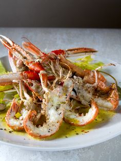 Broiled Langoustines with Fennel and Celery