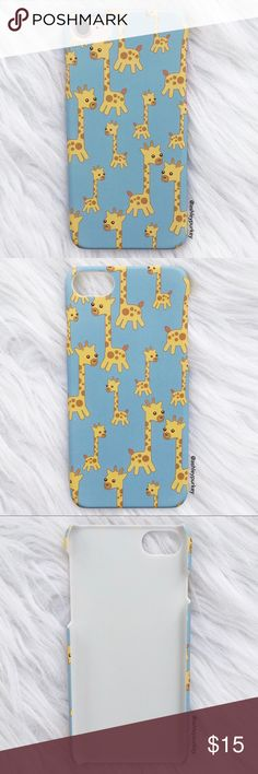 """cute mini giraffe light blue iPhone 7 phone case •iPhone 7 (4.7"""")  •hard plastic   •phone not included   •no trades    *please make sure you purchase the correct size case. i am not responsible if you purchase the wrong size  item #: 41 Daisys Boutique  Accessories Phone Cases"""