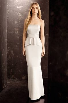 WHITE by Vera Wang, Fall 2013. - girls I think this is the dress in this color!!