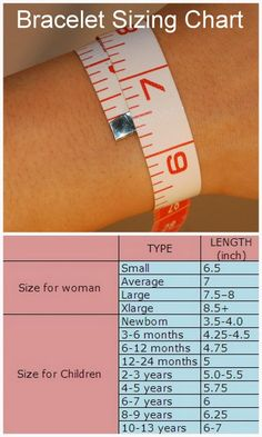 DIY Bracelet Sizing Chart and Tips from Zacoo. For other popular fashion and jewelry charts and infographics: