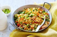 Even kids will love this quick and easy fried rice, perfect for a Tuesday night meal. See notes section for Low FODMAP diet tip.