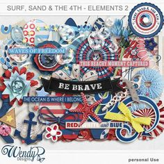 Promotions :: Featured Coordinated Collection :: Surf, sand and the 4th - Elements 2