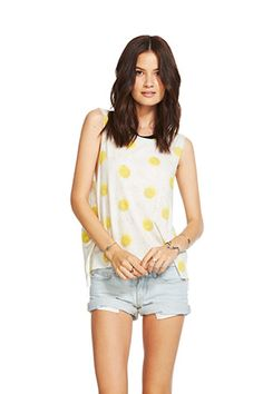 Chaser Muscle Crop Tee Daisy Chain at Marketplace on Broadway