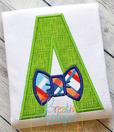 Bow Tie Alphabet Applique Set