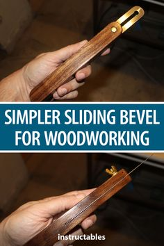 This simple slider bevel tool is for woodworking. #Instructables #workshop #tools #measuring #marking