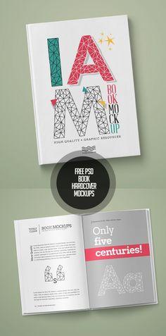 Book / Hardcover Mockups #free #psd #photoshop