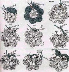 crochet and more by simo: I FIORI D'IRLANDA: PASSO A PASSO