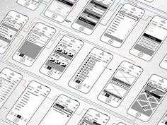 Wireframing #mobile #app #deliverable
