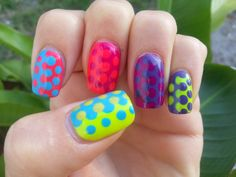 What?! I can't hear you, my nails are too loud! Neon skittles!