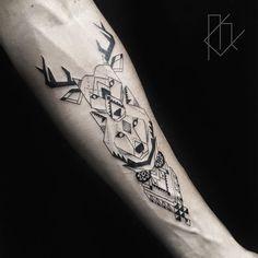 Image result for geometric animal tattoo