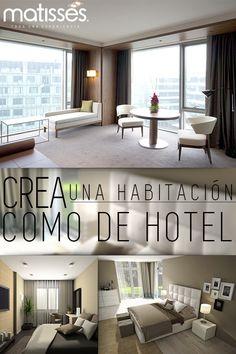 Crear una habitación con una atmósfera de hotel es posible, si se cuenta con el mobiliario adecuado. Camas con cabezal, textiles lisos y sillas de descanso son ideales. Conoce más en el #BlogMatisses: