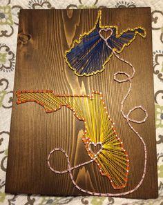 State String Art (West Virginia/Florida)- Order from KiwiStrings on Etsy! ( www.KiwiStrings.etsy.com )