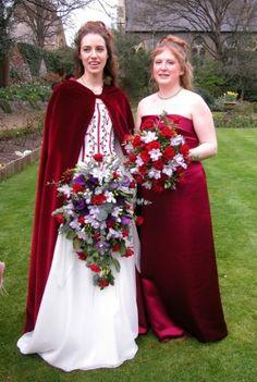 A beautiful red velvet cloak for Annelis  Arynvere Brides Gallery & Testimonials