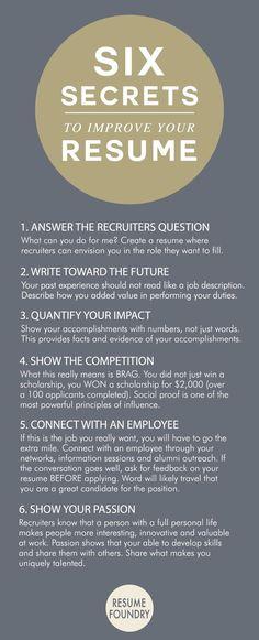 six amazing secrets to improve your resume