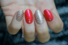 Red nails with a bit of a kick! Featuring models own chrome and OPI sandies (glossified)!