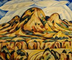 Marsden Hartley - New Mexico Landscape, 1920 at the Museum of Art Philadelphia PA (by mbell1975)