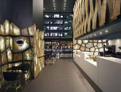 Backlit natural stone walls in modern decoration and interior design. #Flextone