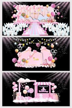 Pink balloon baby birthday party stage#pikbest#decors-models Girls Birthday Party Themes, Gold Birthday Party, 1st Birthday Girls, Princess Party Decorations, Stage Decorations, Birthday Party Decorations, Wedding Backdrop Design, Wedding Stage Design, Wedding Decor