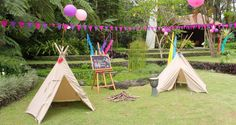 """Native American Party Theme...like the tepee idea here and the """"Wanted"""" sign for photos in the cowboy section"""