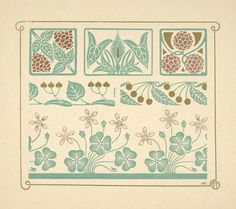 Art Nouveau Decoration with Berries by Alfons Mucha. Art Deco Artwork, Cool Artwork, Alphonse Mucha, Art Nouveau Tattoo, Art Nouveau Design, Maurice, Pattern Books, Botanical Art, Illustrations