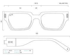 FRAME MEASUREMENTS – 9FIVE Eyewear Small Bedroom Furniture, Wooden Watch, Size Model, Locks, Eyewear, 3d Printing, Sunglasses, Frame, Diy