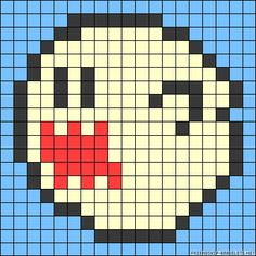 Boo Mario perler bead pattern