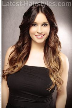 Long Modern Ombre Hairstyle with Waves