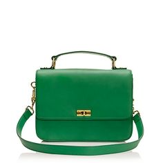 A  ladylike carryall in a beautiful Kelly green.