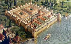 Le Palais de Dioclétien fut construit entre la fin du IIIe s. et le début du IVe s. après JC
