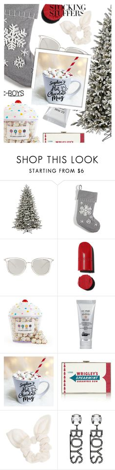 """#PolyPresents: Stocking Stuffers"" by elenamp07 ❤ liked on Polyvore featuring GE, Holiday Lane, Michael Kors, Chanel, Dylan's Candy Bar, Anya Hindmarch, Dorothy Perkins, Ashley Williams, contestentry and polyPresents"